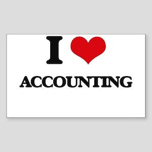 I Love Accounting Sticker
