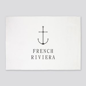 French Riviera Sailing Anchor 5'x7'Area Rug