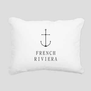 French Riviera Sailing Anchor Rectangular Canvas P