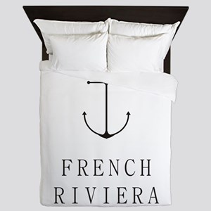 French Riviera Sailing Anchor Queen Duvet