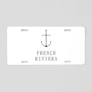 French Riviera Sailing Anchor Aluminum License Pla