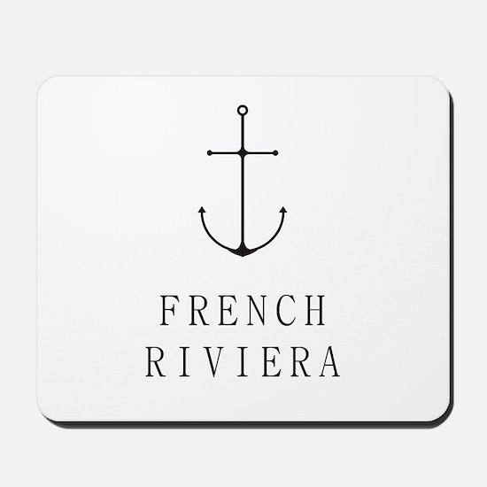 French Riviera Sailing Anchor Mousepad