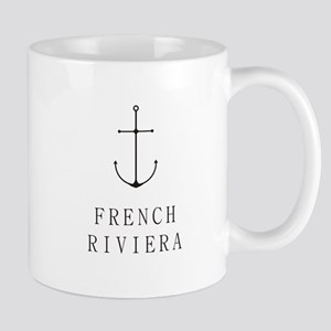 French Riviera Sailing Anchor Mugs