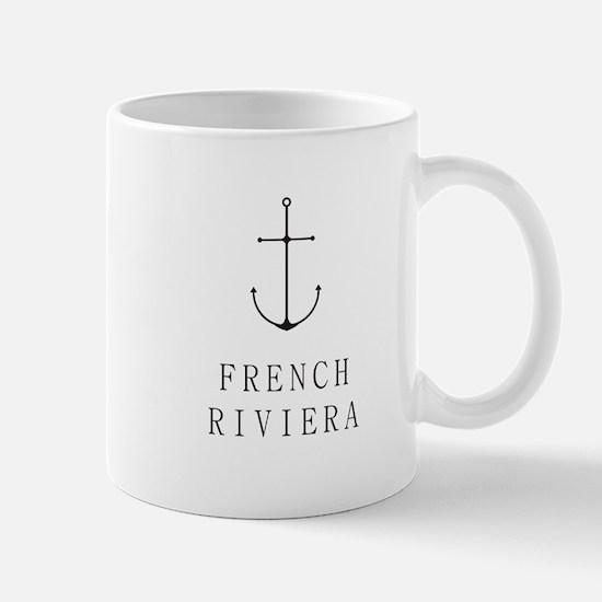 French Riviera Sailing Anchor Mugs