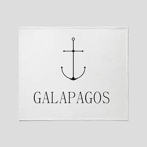 Galapagos Sailing Anchor Throw Blanket