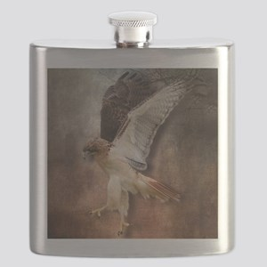 Red Tail Hawk in Vintage Light Flask