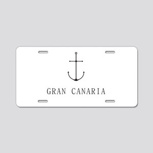 Gran Canaria Sailing Anchor Aluminum License Plate