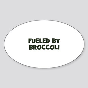 fueled by broccoli Oval Sticker
