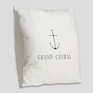 Grand Cayman Sailing Anchor Burlap Throw Pillow