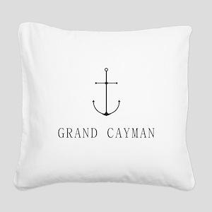 Grand Cayman Sailing Anchor Square Canvas Pillow