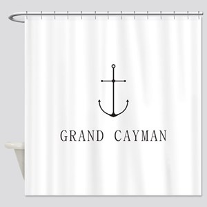 Grand Cayman Sailing Anchor Shower Curtain