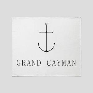 Grand Cayman Sailing Anchor Throw Blanket