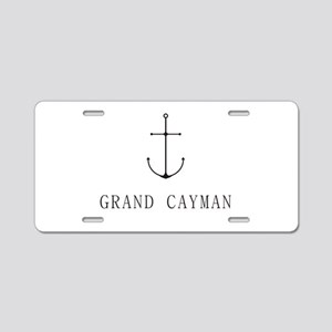 Grand Cayman Sailing Anchor Aluminum License Plate