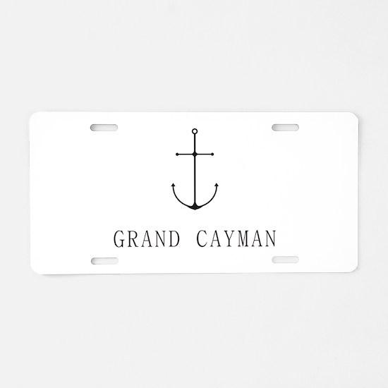 Grand Cayman Sailing Anchor Aluminum License Plate