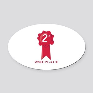 2nd Place Oval Car Magnet
