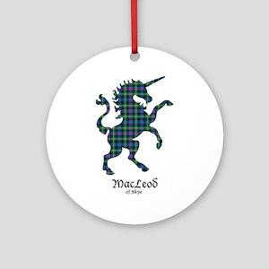 Unicorn-MacLeodSkye Round Ornament