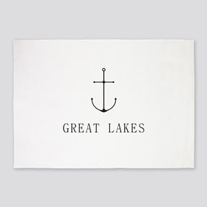 Great Lakes Sailing Anchor 5'x7'Area Rug