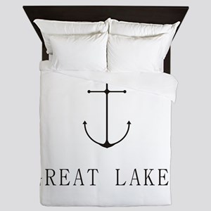 Great Lakes Sailing Anchor Queen Duvet