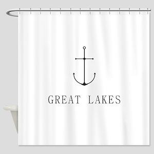 Great Lakes Sailing Anchor Shower Curtain