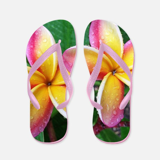 Maui Tropical Flower Flip Flops