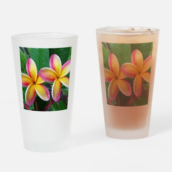 Maui Plumeria Tropical Flower Drinking Glass