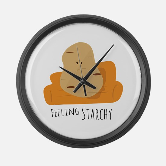 Feeling Starchy Large Wall Clock