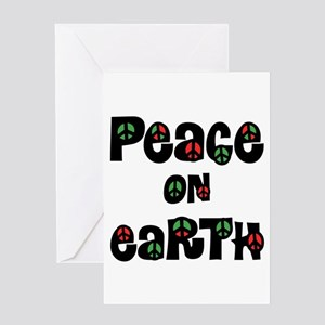 Peace on earth greeting cards cafepress peace on earth christmas greeting cards m4hsunfo Images