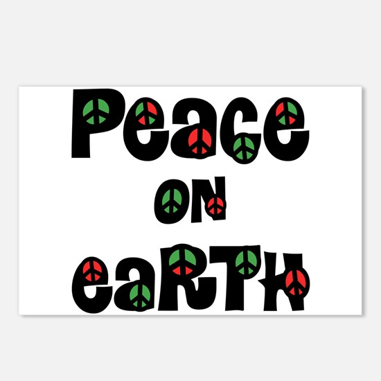 Peace On Earth Christmas Postcards (Package of 8)