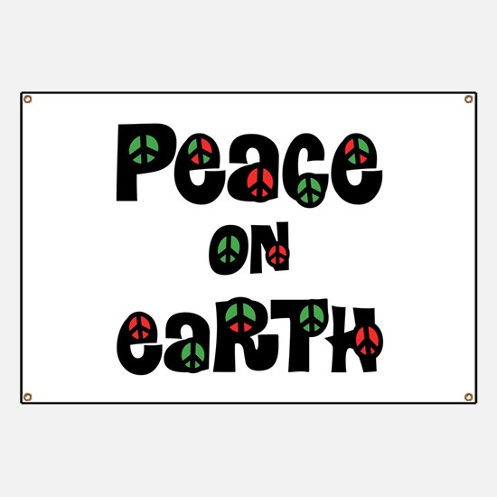 Peace On Earth Christmas Banner