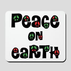 Peace On Earth Christmas Mousepad