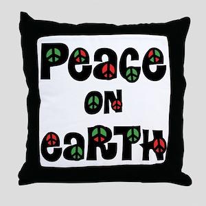 Peace On Earth Christmas Throw Pillow