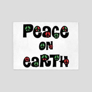 Peace On Earth Christmas 5'x7'Area Rug