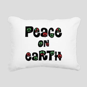 Peace On Earth Christmas Rectangular Canvas Pillow
