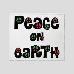 Peace On Earth Christmas Throw Blanket