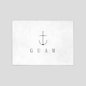 Guam Sailing Anchor 5'x7'Area Rug