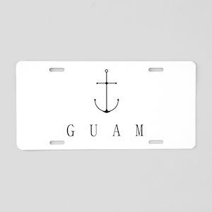 Guam Sailing Anchor Aluminum License Plate