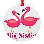 Big Sister Pink Flamingoes Ornament