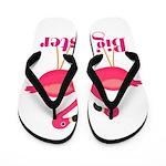 Big Sister Pink Flamingoes Flip Flops