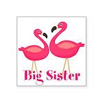 Big Sister Pink Flamingoes Sticker