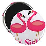 Big Sister Pink Flamingoes Magnets