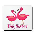 Big Sister Pink Flamingoes Mousepad