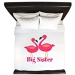Big Sister Pink Flamingoes King Duvet