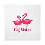 Big Sister Pink Flamingoes Queen Duvet
