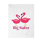 Big Sister Pink Flamingoes Twin Duvet