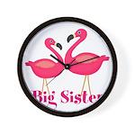Big Sister Pink Flamingoes Wall Clock