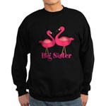 Big Sister Pink Flamingoes Sweatshirt