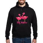 Big Sister Pink Flamingoes Hoodie