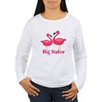 Big Sister Pink Flamingoes Long Sleeve T-Shirt
