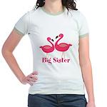 Big Sister Pink Flamingoes T-Shirt
