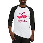 Big Sister Pink Flamingoes Baseball Jersey